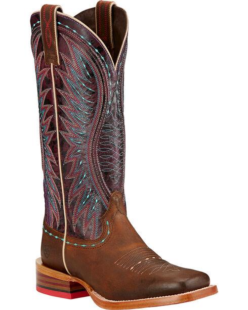 Ariat Vaquera Cowgirl Boots - Square Toe , Khaki, hi-res