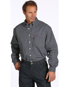 Cinch WRX Men's Black Print Flame-Resistant Shirt , Black, hi-res