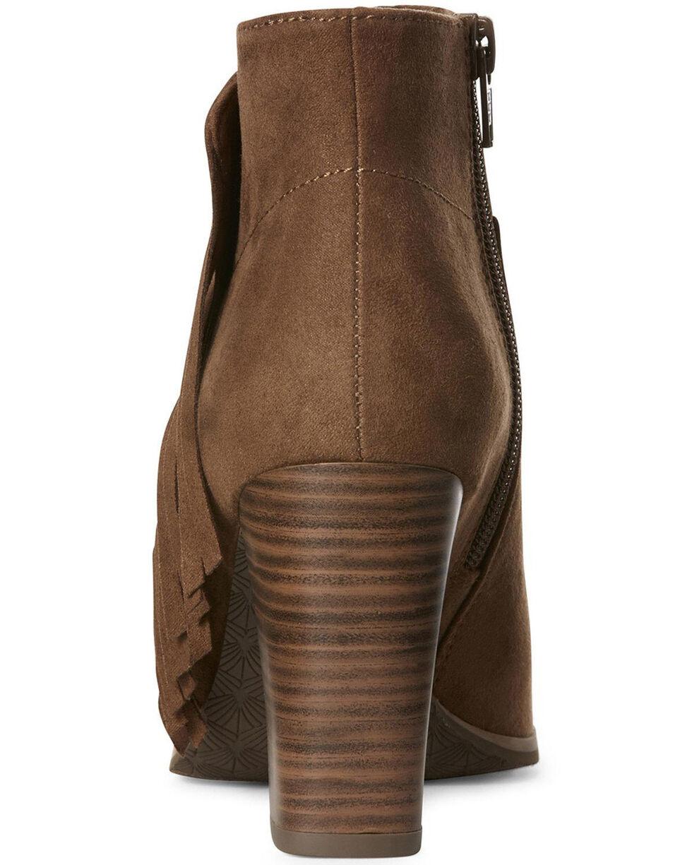 Ariat Women's Unbridled Scarlet Cognac Fashion Booties - Open Toe, Cognac, hi-res