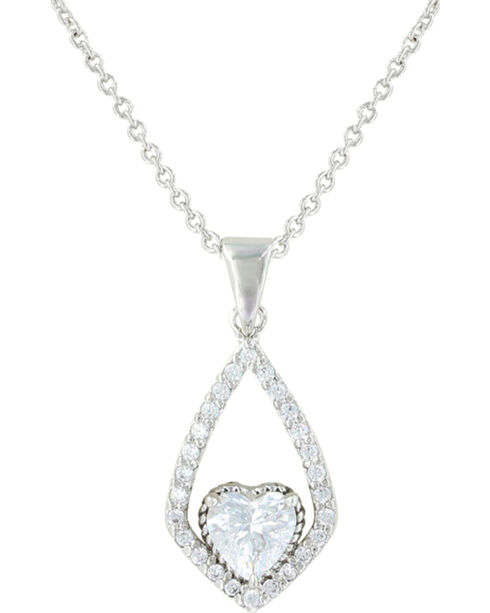 Montana Silversmiths Hearts on a Swing Necklace, Silver, hi-res