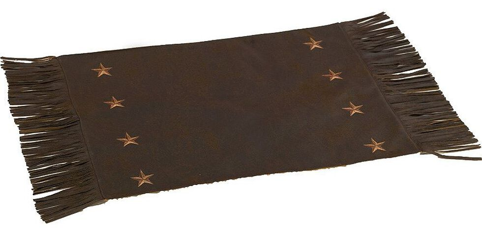 HiEnd Accents Embroidered Star Placemats, Brown, hi-res