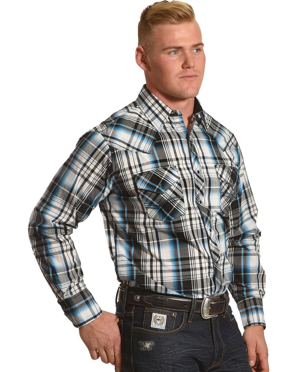 Ely Cattleman Men's Blue 1878 Contrast Stitching Shirt , Blue, hi-res