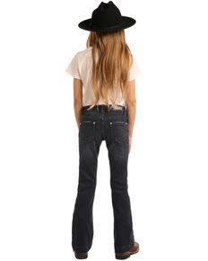 Rock & Roll Denim Girls' Dark Vintage Trousers , Blue, hi-res