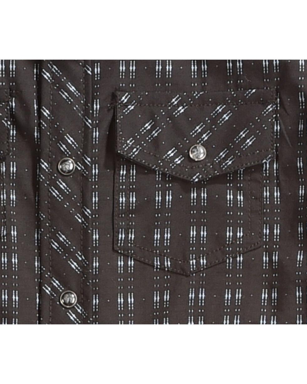 Cody James Boys' Railroad Print Long Sleeve Snap Shirt, Black, hi-res