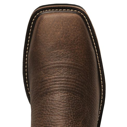 Justin Stampede Copper Western Work Boot - Square Soft Toe, Copper, hi-res