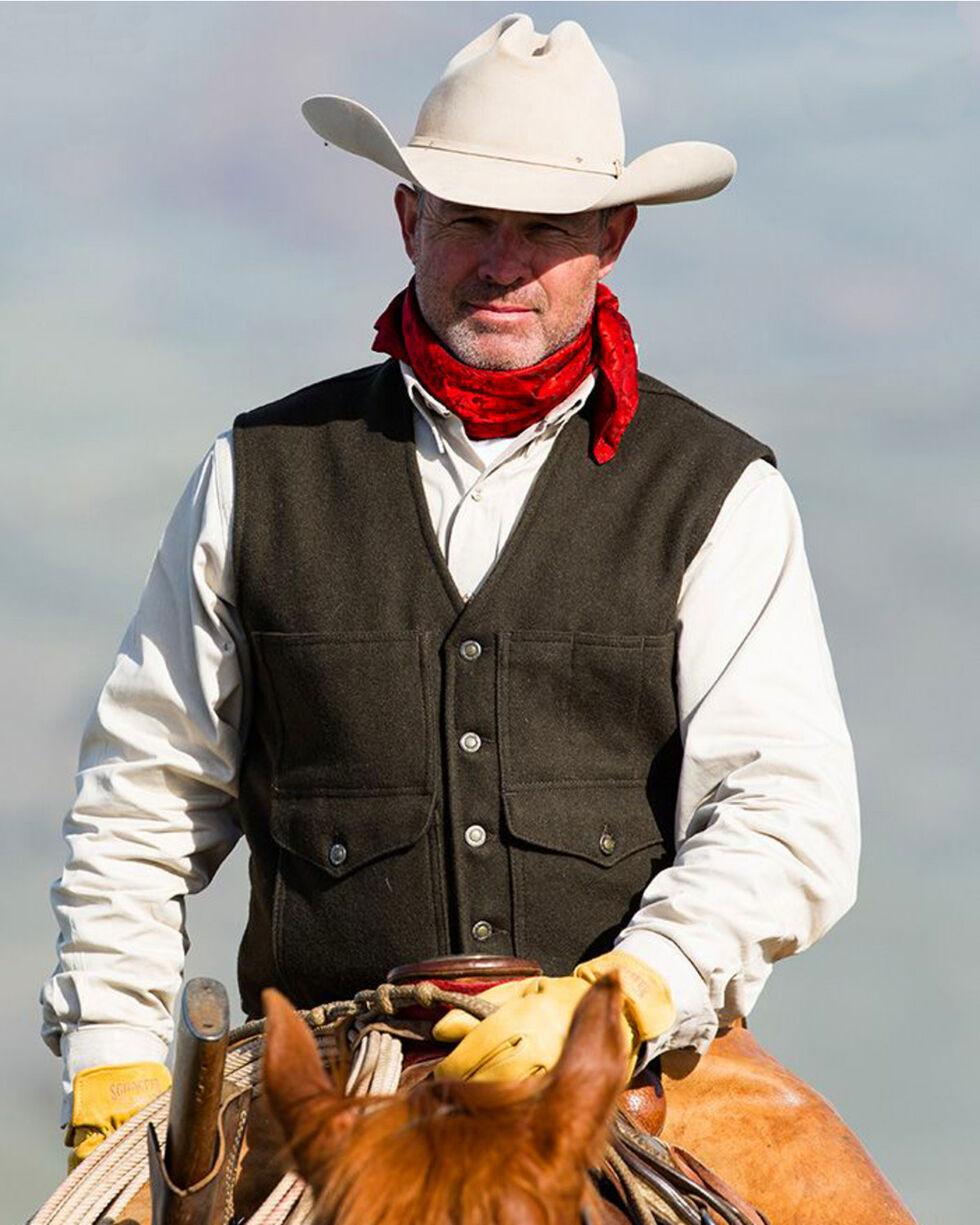 Schaefer Outfitter Men's Black Scout Melton Wool Vest - 3XL, Black, hi-res