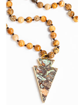 Jewelry Junkie Women's Bohemian Jasper Beaded Necklace , Brown, hi-res