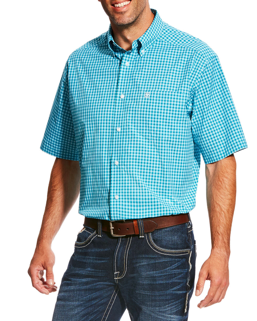 Ariat Men's Pro Series Negan Plaid Short Sleeve Button Down Shirt , , hi-res