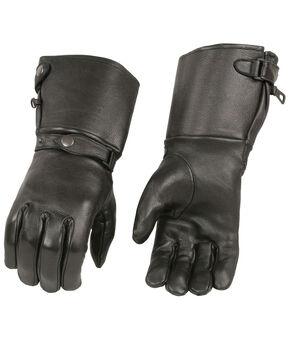 Milwaukee Leather Men's Deerskin Thermal Lined Gauntlet Gloves - 3X, Black, hi-res