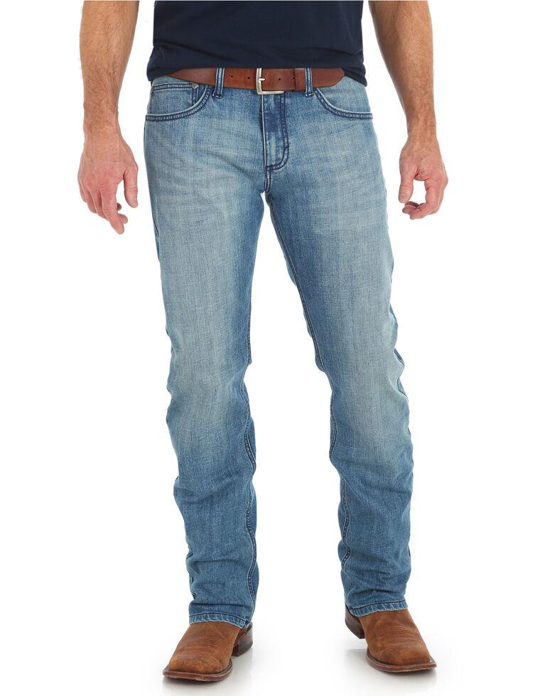 Wrangler 20X Men's No. 44 Slim Fit Straight Leg Jeans , Light Blue, hi-res