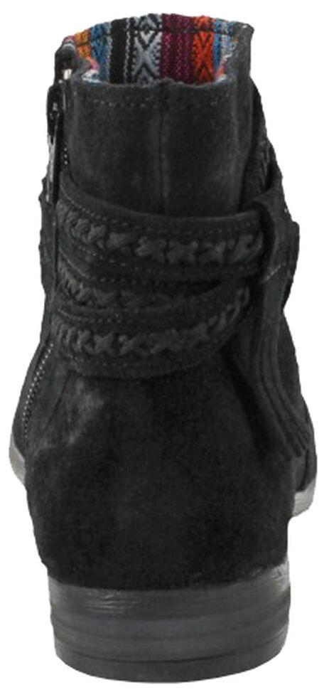 Minnetonka Women's Dixon Booties - Round Toe, Black, hi-res