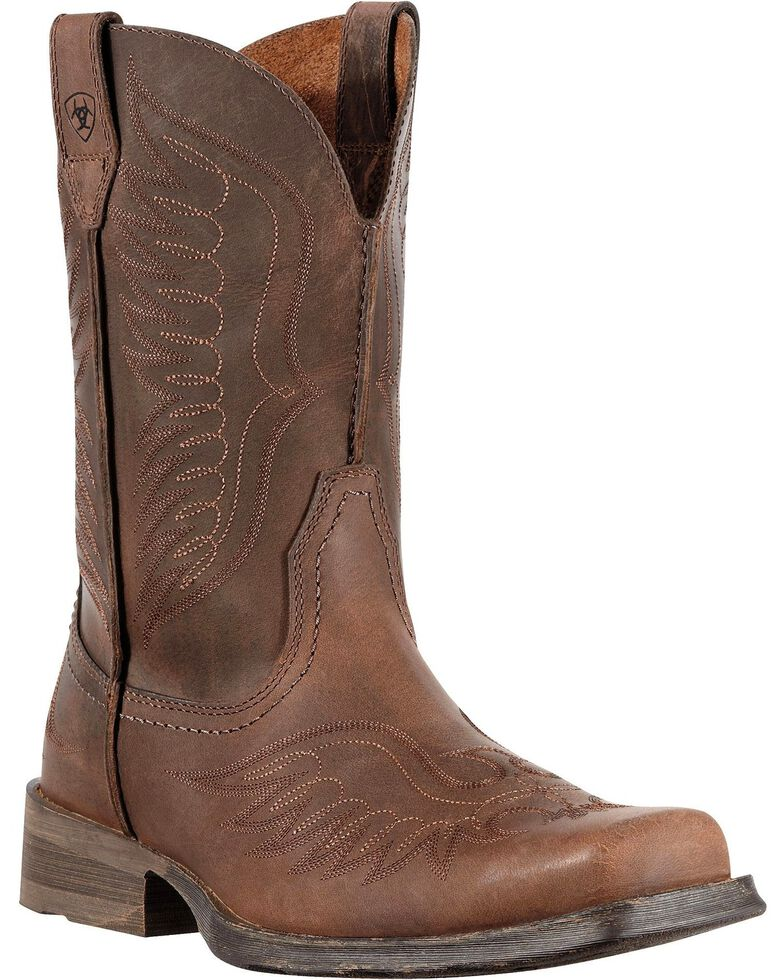 Ariat Rambler Phoenix Cowboy Boots - Square Toe, Distressed, hi-res
