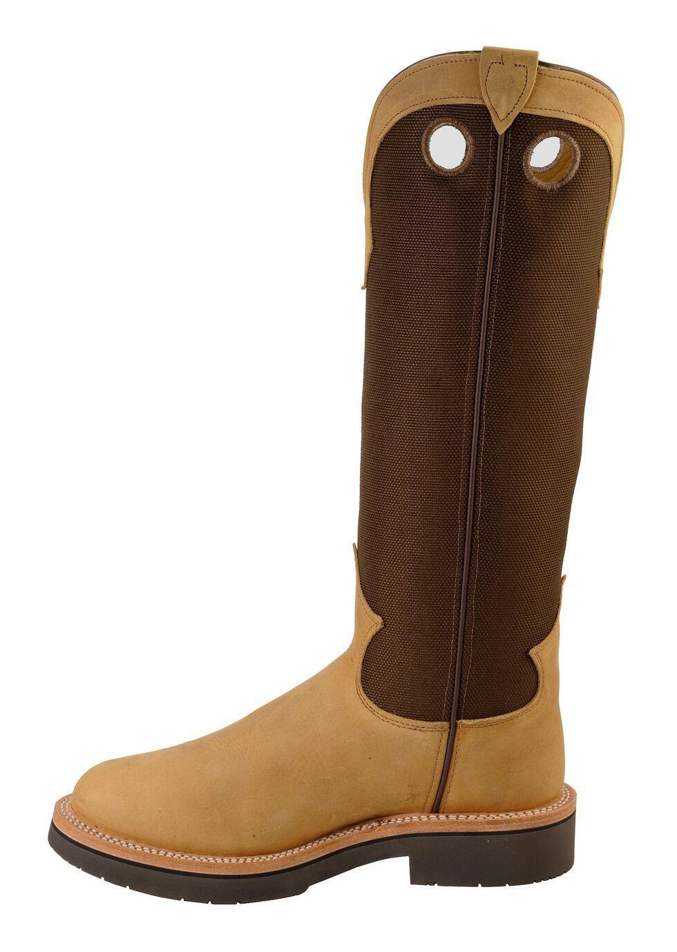 "Justin Men's 17"" Tuff Snake Boots - Round Toe, Dune, hi-res"