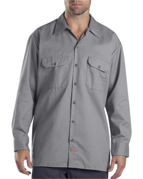 Dickies Twill Work Shirt, Silver, hi-res