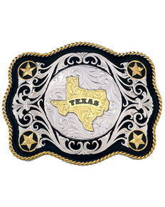 Montana Silversmiths Sheridan Style Texas State Western Belt Buckle, Multi, hi-res