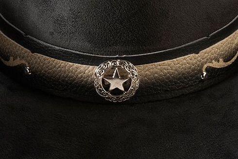 Bullhide Straight Shooter Faux Felt Cowgirl Hat, Black, hi-res