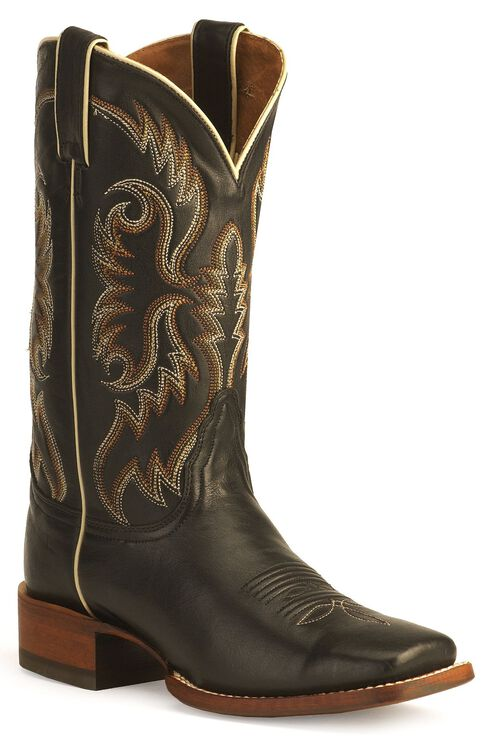Nocona Women's Soft Ice Leather Rancher Boots - Square Toe, Black, hi-res