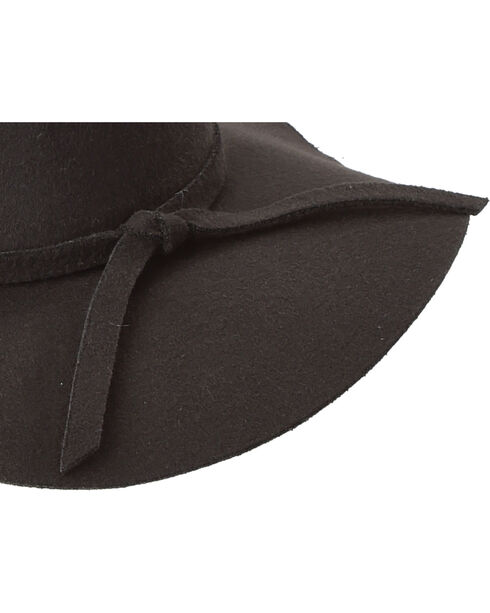 Peter Grimm Women's Black Carly Blended Felt Floppy Hat , Black, hi-res