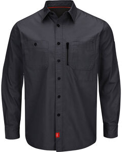 Red Kap Charcoal Grey MIMIX™ Woven Work Shirt , Charcoal Grey, hi-res