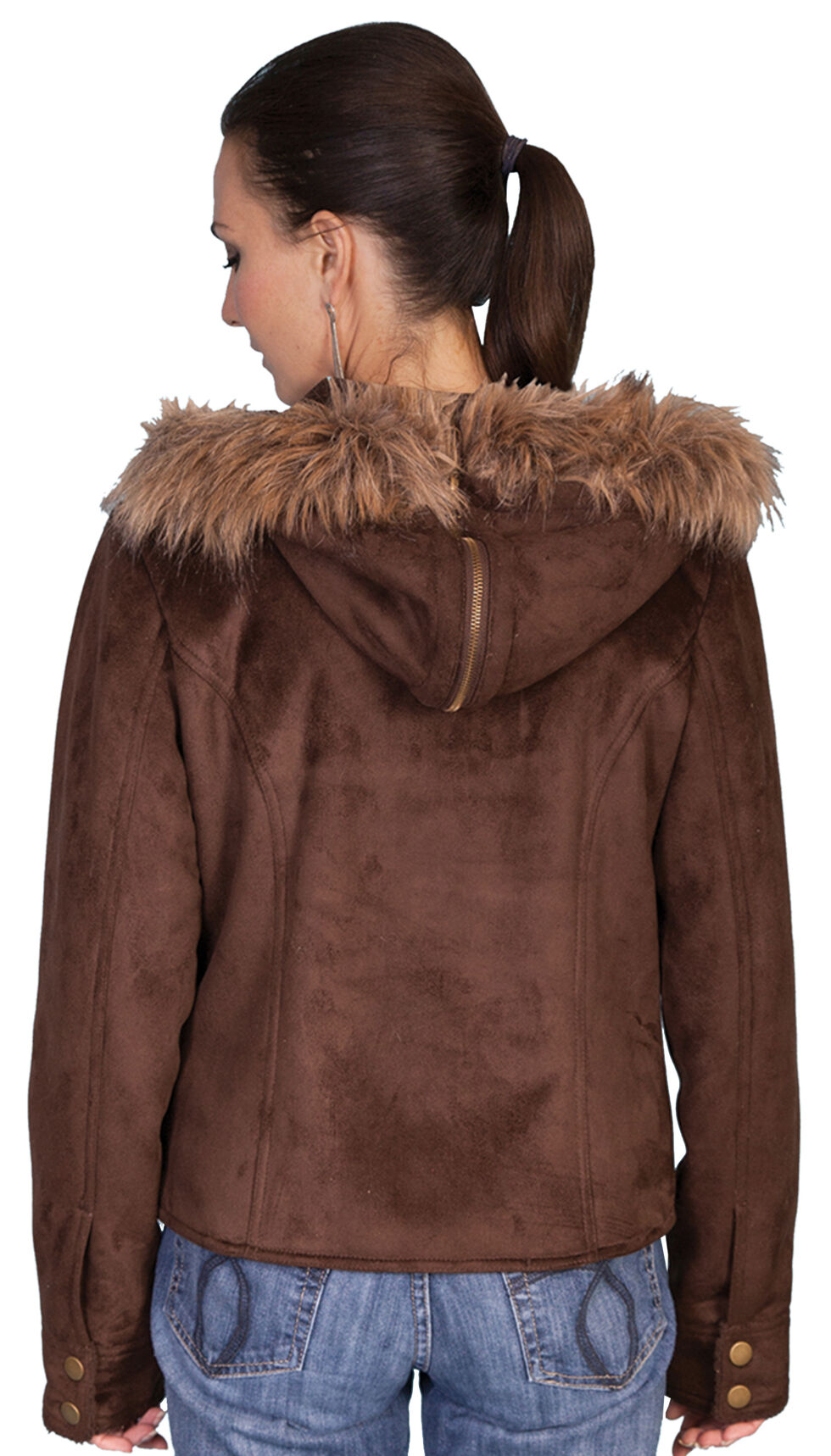 Scully Faux Fur Hooded Suede Jacket, , hi-res