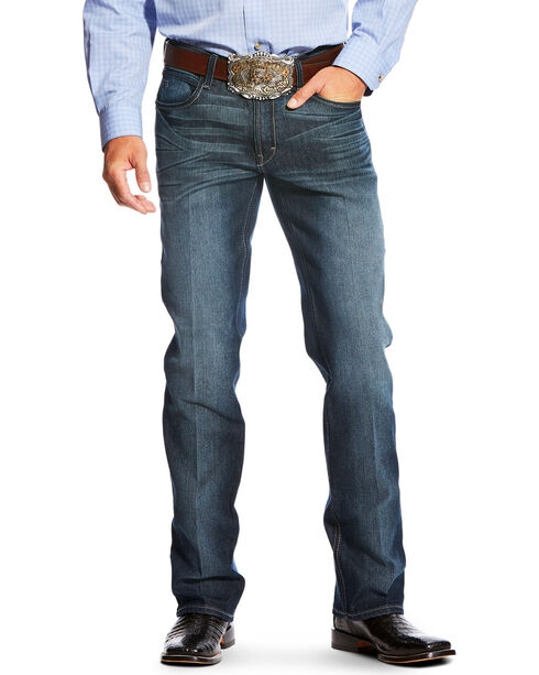 Ariat Men's Blue Relentless Original Fit Jeans - Boot Cut , Blue, hi-res