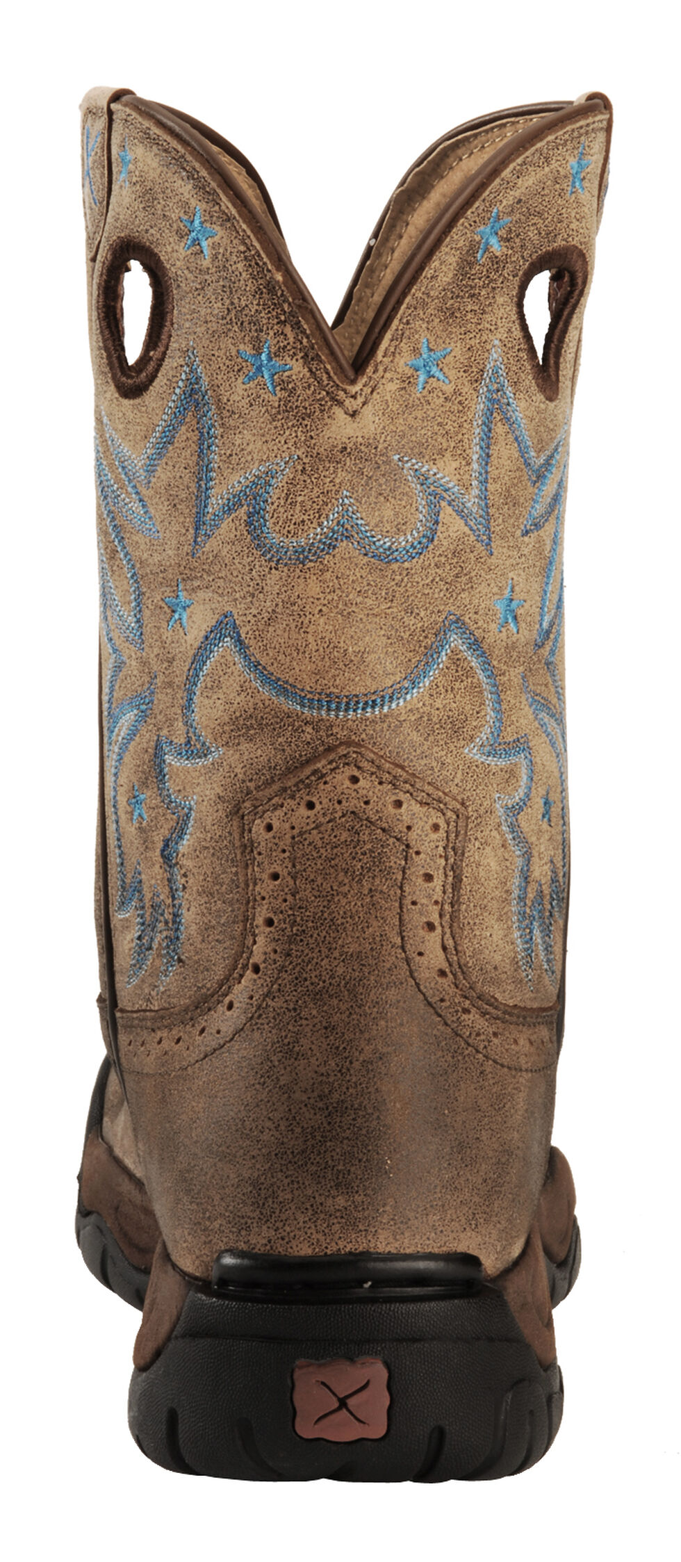Twisted X Women's Distressed All Around Barn Boot - Round Toe, Bomber, hi-res