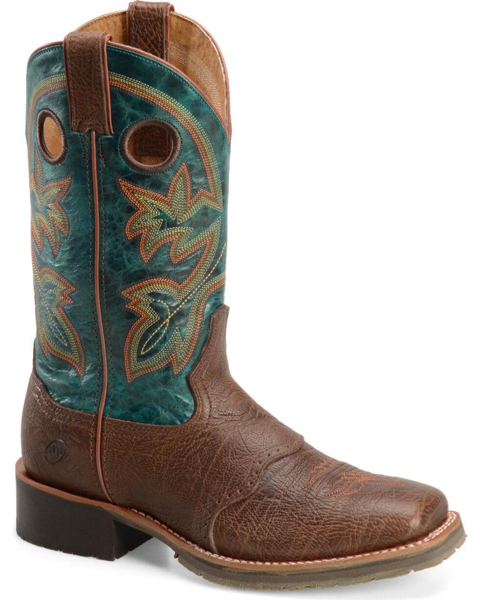 Double H Men's Tobacco Roper Boots - Wide Square Toe , Brown, hi-res