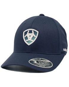 Ariat Men's Black Ombre Logo Flex-Fit Ball Cap , Black, hi-res