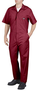 Dickies Short Sleeve Work Coveralls - Big & Tall, Red, hi-res