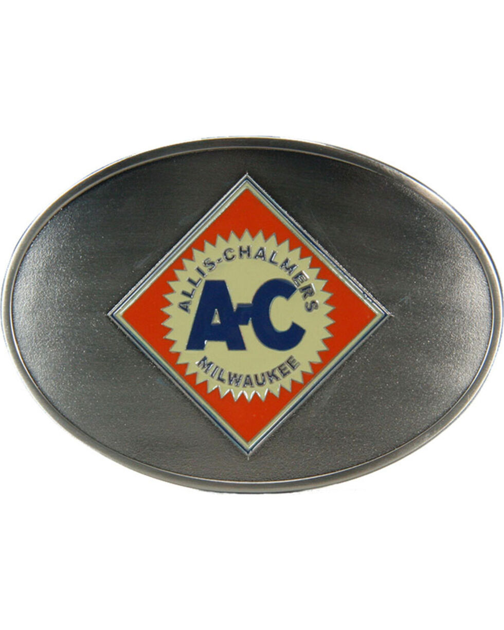 Western Express Men's Silver Allis-Chalmers Belt Buckle , Silver, hi-res