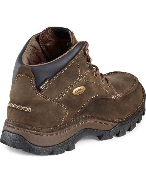 Red Wing Irish Setter Men's Borderland Boots - Moc Toe, Brown, hi-res
