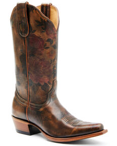Shyanne Women's Olive Western Boots - Snip Toe, Brown, hi-res
