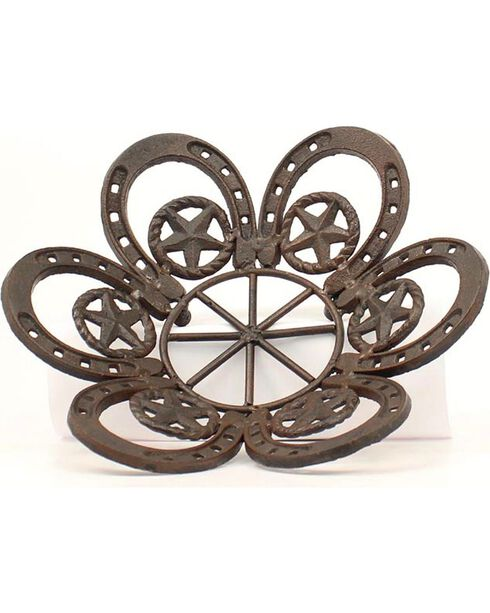 Western Moments Cast Iron Horseshoe & Star Fruit Bowl, Brown, hi-res