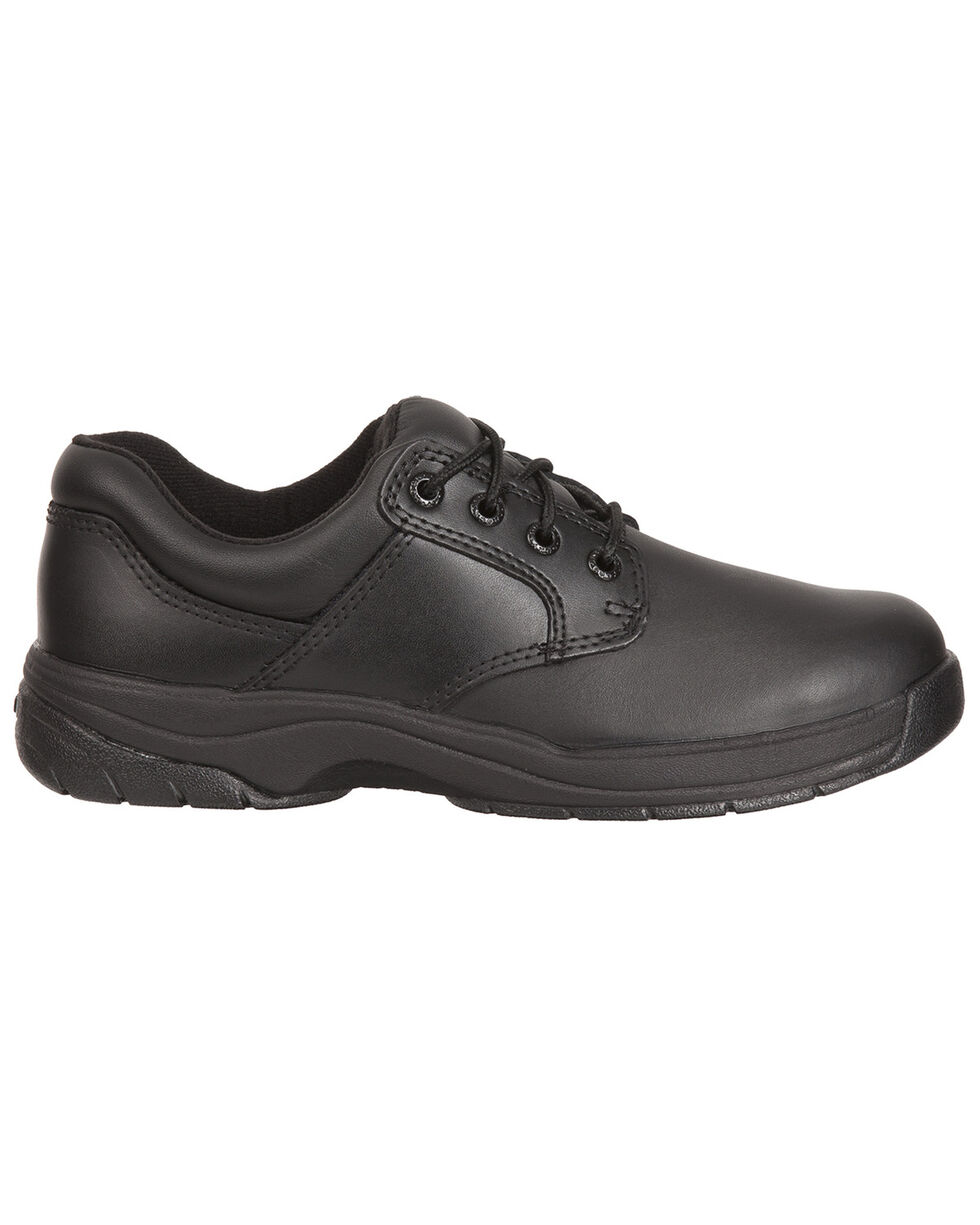 Rocky Women's SlipStop Plain Toe Oxford Duty Shoes, Black, hi-res