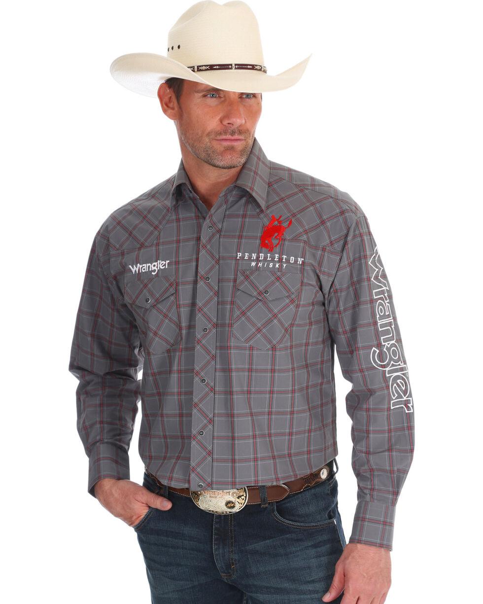 Wrangler Men's Grey Pendleton Logo Shirt , Grey, hi-res