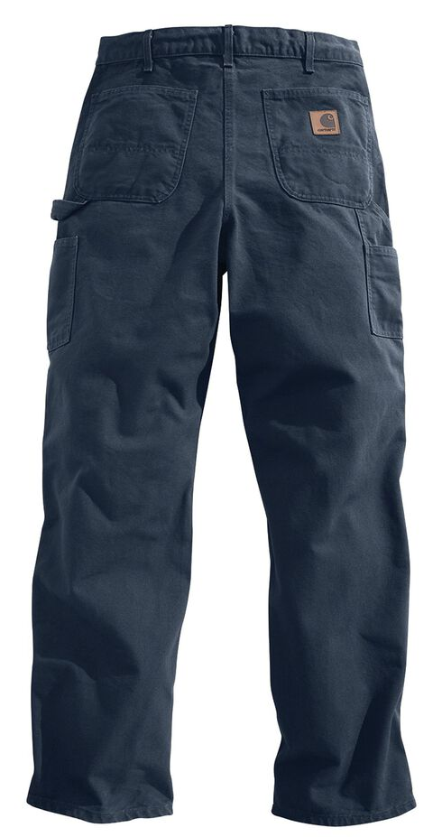 Carhartt Washed Duck Work Dungaree Utility Pants - Big & Tall, Dark Blue, hi-res