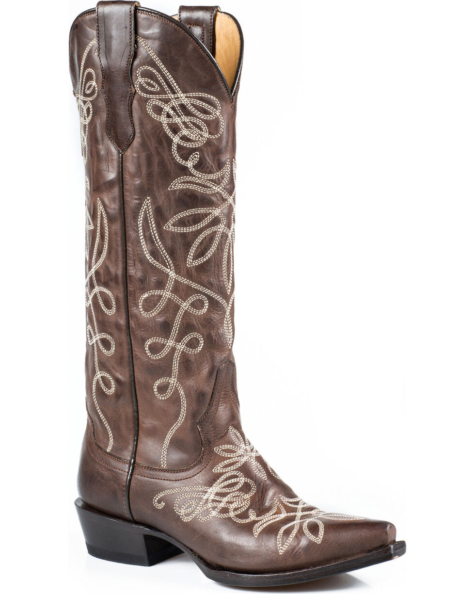 "Stetson Adeline 15"" Cowgirl Boots - Snip Toe, Brown, hi-res"