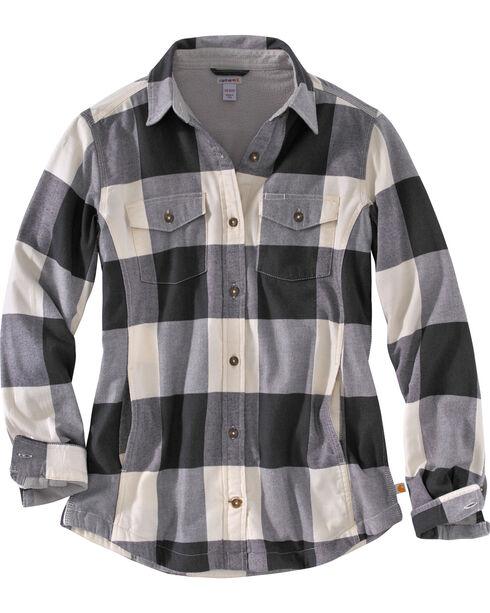 Carhartt Women's Natural Rugged Flex Hamilton Fleece Lined Shirt, Natural, hi-res