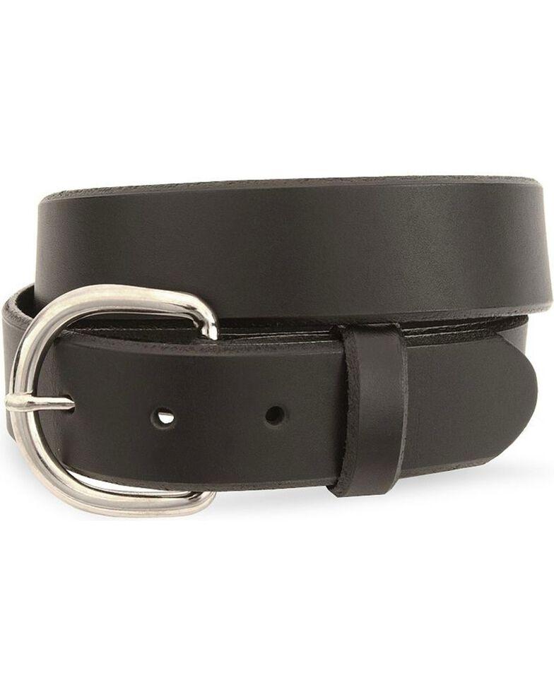 Silver Creek Basic Black Leather Belt - Reg & Big, Black, hi-res