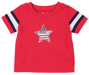 Wrangler Infant/Toddler Boys' Red Star Short Sleeve Tee, Red, hi-res