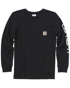 Carhartt Boys' Graphic Long Sleeve T-Shirt , Navy, hi-res