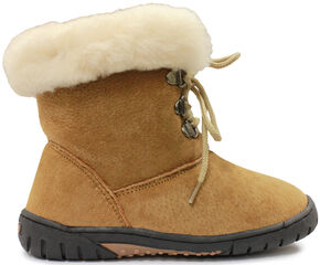 Lamo Footwear Girl's Bianca Boots - Round Toe, Chestnut, hi-res