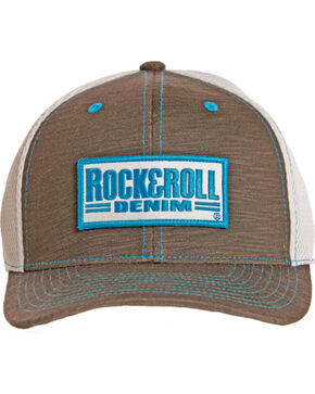 Rock & Roll Cowboy Men's Logo Airmesh Cap, Grey, hi-res