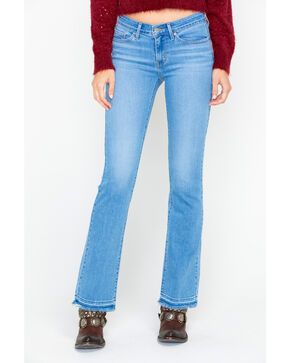 Levi's Women's Spaced Out Light Mid Rise Released Boot Jeans , Blue, hi-res