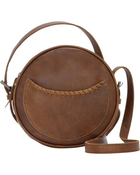 TrueLu Women's Brown Lila Crossbody Circle Handbag , Brown, hi-res
