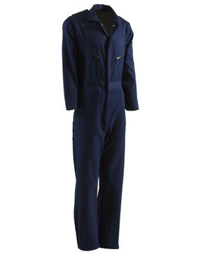 Berne Navy Deluxe Unlined Coveralls, Navy, hi-res