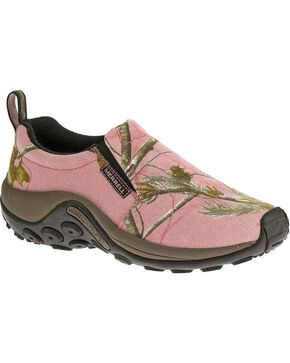 Merrell Pink Realtree® Camo Jungle Moc Hiking Shoes, Pink, hi-res