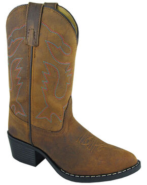 Smoky Mountain Youth Girls' Dakota Western Boots - Medium Toe, Brown, hi-res