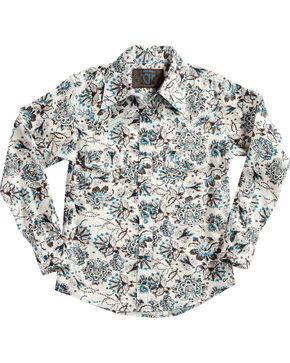 Cowgirl Hardware Girls' Peacock Long Sleeve Shirt, Multi, hi-res