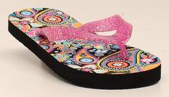 Blazin Roxx Girls' Audrey Flip Flop, Pink, hi-res